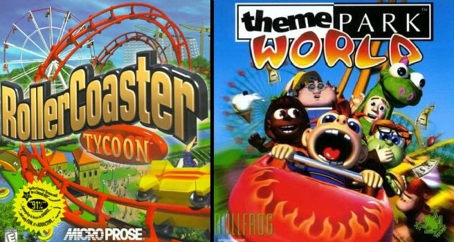 RollerCoaster Tycoon VS Theme Park World – The Dopefish